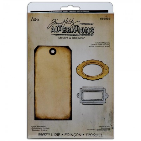 Sizzix Bigz Dies - Tim Holtz Tag and Bookplates - 656938