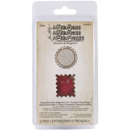 Tim Holtz - Movers & Shapers - Mini Bottle Cap & Stamp