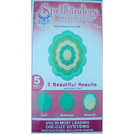 Spellbinders Big Scalloped Ovals SM