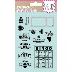 Studio Light - Clear stamp & die cut - BASICDC05