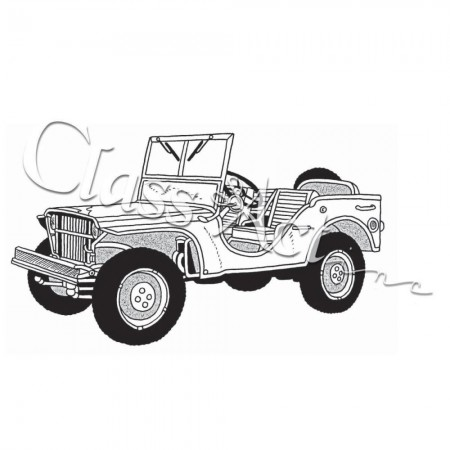 Class Act - Cling Mounted Rubber Stamp - Jeep