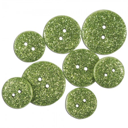Favorite Findings Glitter Buttons - Citron Opaque glimmer knapper