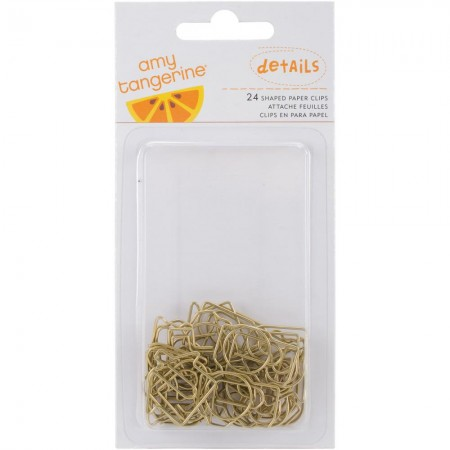 American Crafts-Amy Tan Stitched Shaped Paper Clips - Gold