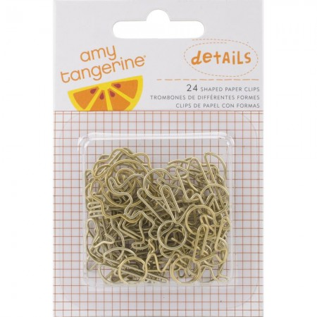 American Crafts-Amy Tan Rise & Shine Paper Clips - Gold Clips