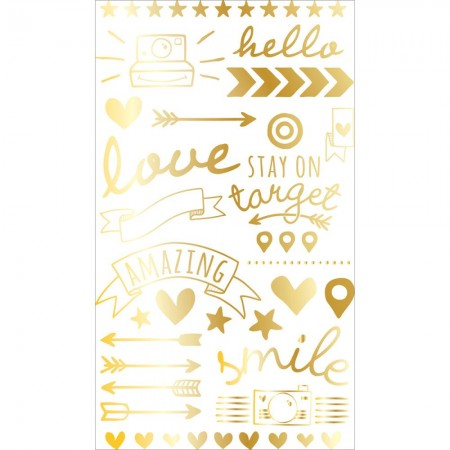 Project Life Foil Rub-Ons Gold