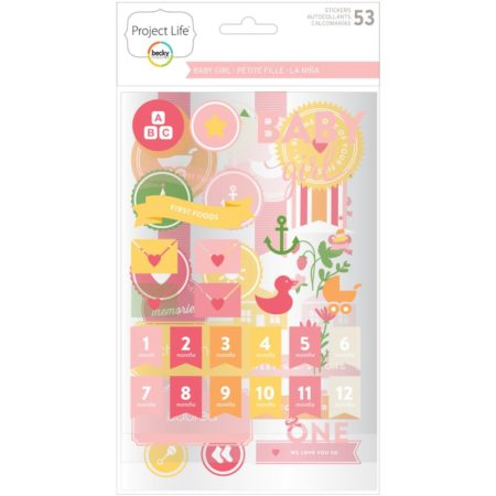 Project Life Chipboard Stickers - Baby Girl Edition - 380526