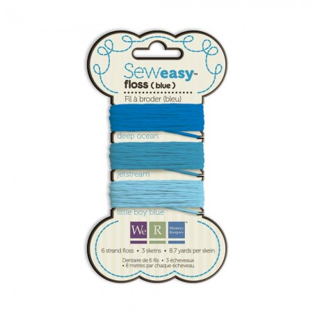 We R Memory Keepers Sew Easy Floss - Blue