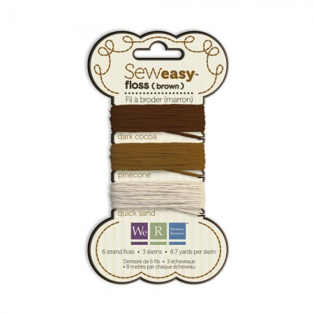 We R Memory Keepers Sew Easy Floss - Brown