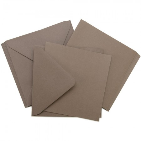 Kaisercraft - Card Pack Square -Brown