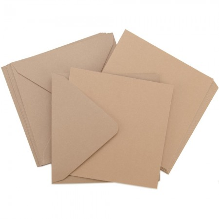 Kaisercraft - Card Pack Square -Natural