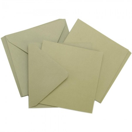 Kaisercraft - Card Pack Square -Olive