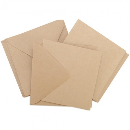 Kaisercraft - Card Pack Square -Kraft