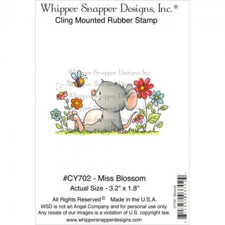 Whipper Snapper Designs-Cling Stamp – Miss Blossom