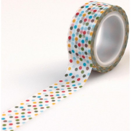 Echo Park - Dino Friends Decorative Tape - Multi Dot