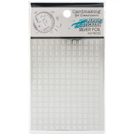 Fundamentals Alphabet Stickers - White Lettering On Silver