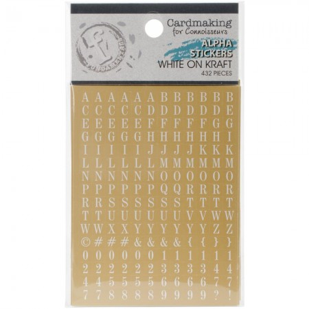 Fundamentals Alphabet Stickers - White Lettering On Kraft