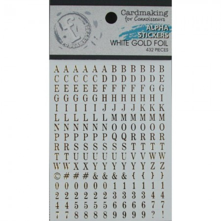 Fundamentals Alphabet Stickers - Gold Lettering On White