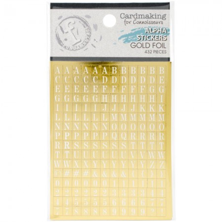 Fundamentals Alphabet Stickers-White Lettering On Gold