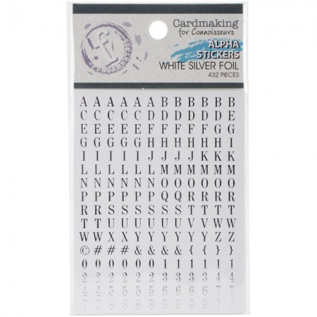 Fundamentals Alphabet Stickers - Silver Lettering On White