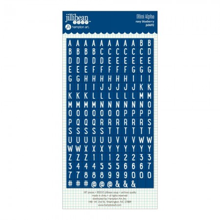 Hampton Art-Mini Cardstock Alpha Stickers - Navy