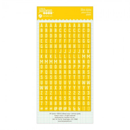 Hampton Art-Mini Cardstock Alpha Stickers - Yellow.