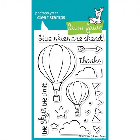 Lawn Fawn Clear Stamps - Blue Skies.