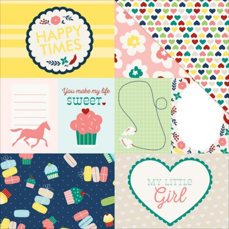 """My Little Girl Double-Sided Cardstock 12""""X12"""" Journaling Cards"""