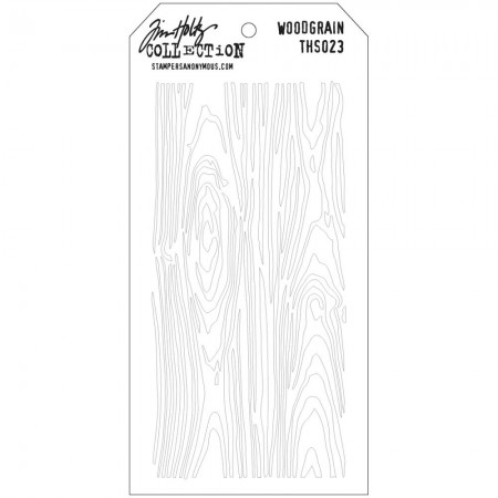 Tim Holtz - Layered Stencil - Woodgrain - THS023