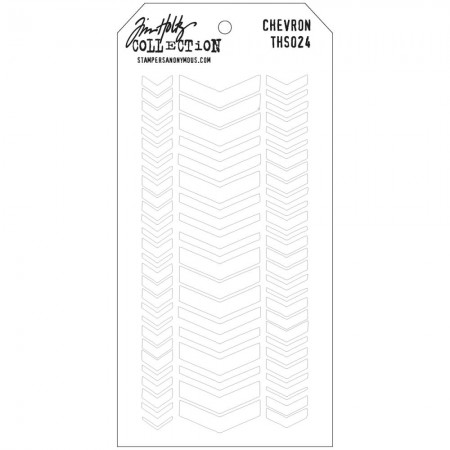 Tim Holtz - Layered Stencil - Chevron - THS024