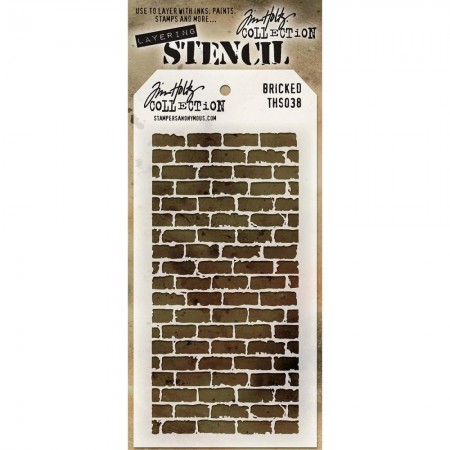 Tim Holtz Layered Stencil - Bricked - THS038