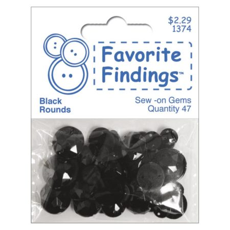 Favorite Findings Round Gems – Black