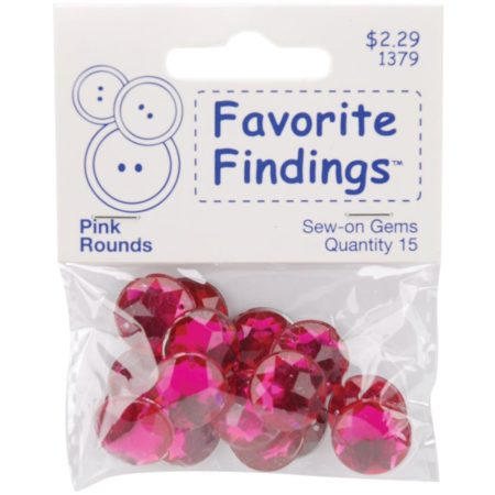 Favorite Findings Round Gems – Pink