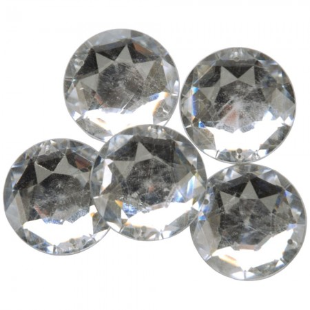 Favorite Findings Round Gems – Large Clear