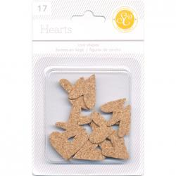 Studio Calico - Cork Shapes Hearts