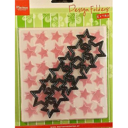 Marianne Design - Embossing Folder & Die - Stars - DF3408