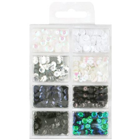 Cup Sequin Kit - Black & White Classic
