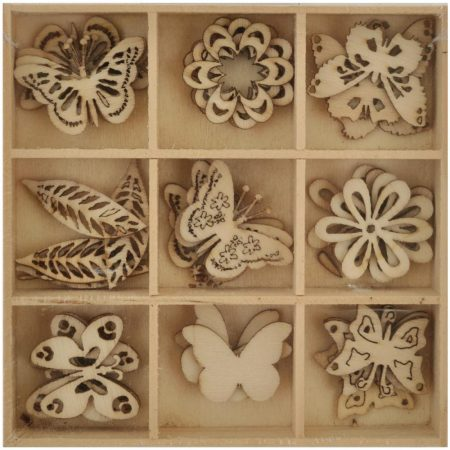 Kaisercraft - Lucky Dip Wooden Shapes - Butterfly