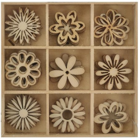 Kaisercraft - Lucky Dip Wooden Shapes - Flower