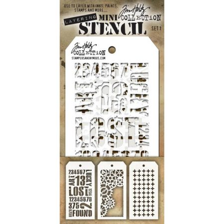 Tim Holtz - Layering stencil Mini Set 1 - MTS001