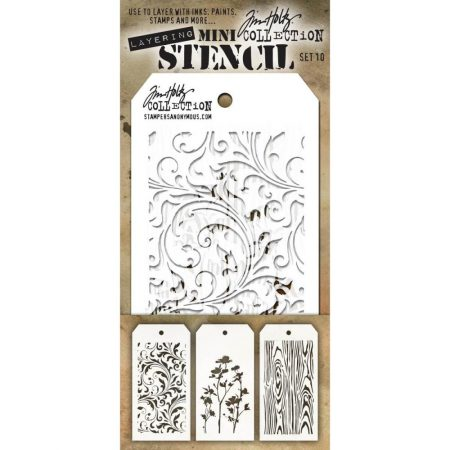 Tim Holtz - Layering stencil - Mini Set 10 - MTS010