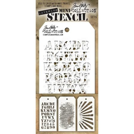 Tim Holtz - Layering stencil - Mini Set 5 - MTS005