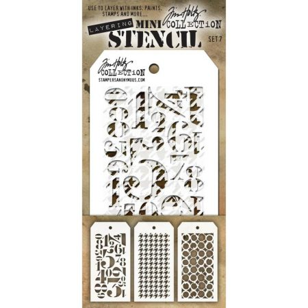 Tim Holtz - Layering stencil - Mini Set 07 - MTS7