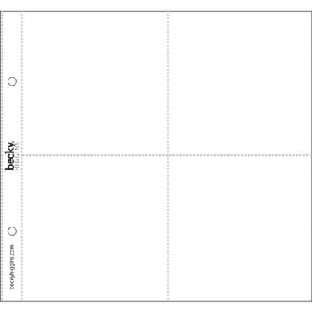 """AMERICAN CRAFTS - Project Life Page Protectors 8""""X8"""" (4)"""