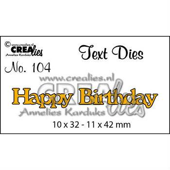 CREAlise - Text Dies - Happy Birthday