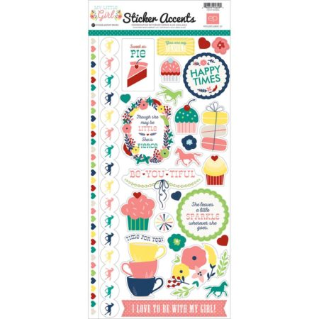 Echo Park Paper - My Little Girl Stickers