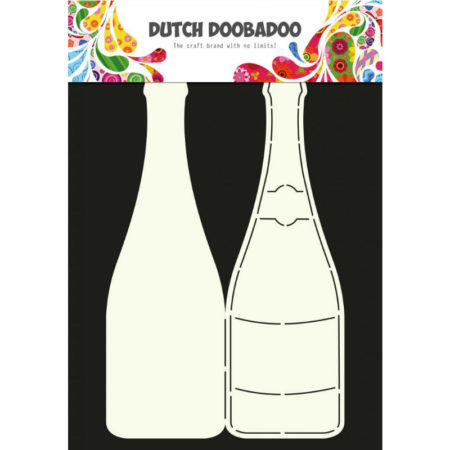 Dutch Doobadoo – Card Art – Champagne Flaske