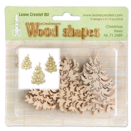 LEANE - Wood Shapes - Chrismas Trees