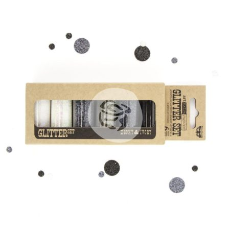Prima Marketing - Glitter Set - Ebony & Ivory