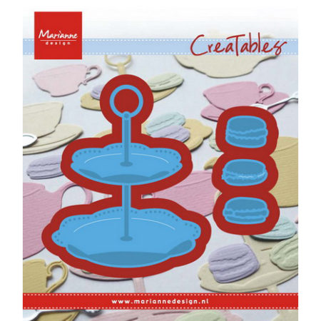 Marianne Design – Tiered tray & macarons - LR0463
