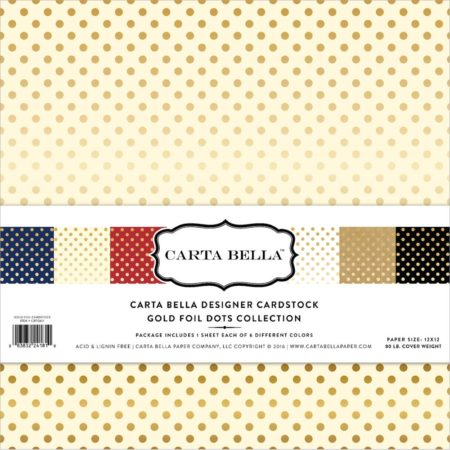 Echo Park Paper - Gold Foil Dots Collection - Carta Bella